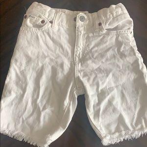 Boys All White Polo Shorts
